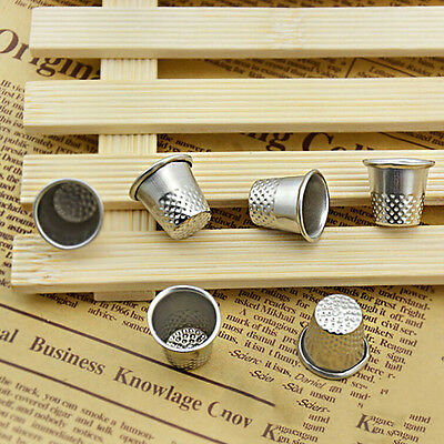 10pc Dressmakers Vintage Metal Finger Thimble Protector Sewing Neddle Shield BH