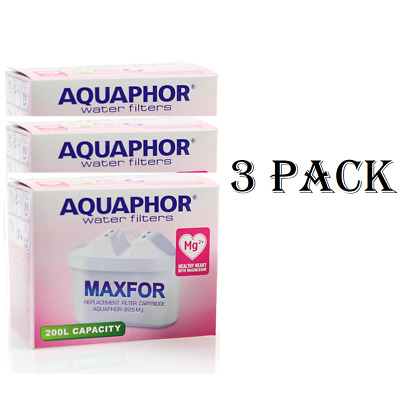 3 AQUAPHOR Mg2+ Jug Replacement Cartridges Standard Size Enriched With Magnesium