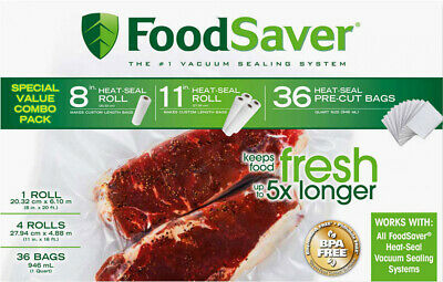 Foodsaver Roll and Bag Combo Pack