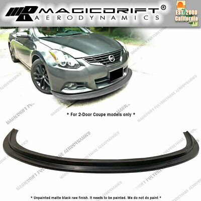 For 10 11 12 13 Nissan Altima 2Dr Coupe MDA style Front Bumper Chin Splitter Lip