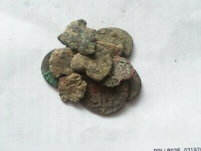 Lot of 15 Authentic Ancient Roman Coins from 240 - 410 AD. Rare Roman Cull Coins