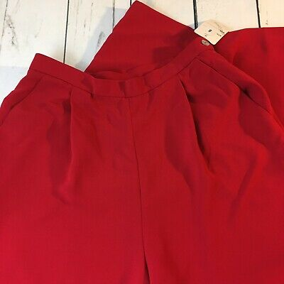 Susan Bristol Women s Red Dress Pants Size 8 Brand New With Tag Free  Shipping 66a968a85
