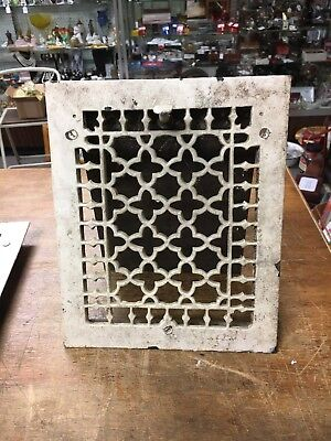 Antique Vintage Cast Iron Heater Grate Vent Register Cover 9 1/4 x 11 1/4 inches