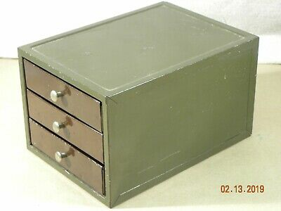 Industrial 3 Drawer Small Parts Bin,Tools Hardware, Vintage Machinist Cabinet