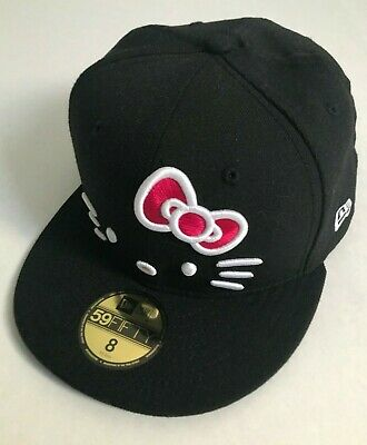567ac5a8097 Hello Kitty X New Era 59FIFTY Fitted Cap 8 Black New from Japan With Tags  Sanrio