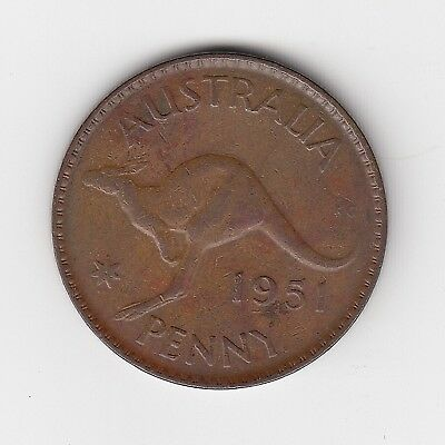 1951P Australia Kgvi Penny - Very Nice Collectable Coin