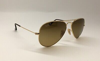 0b0a4ce447 AUTHENTIC! RAY BAN RB 3025 001 M2 Sunglasses Aviator Metal Gold ...
