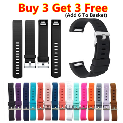 For Fitbit Charge 2 /HR Straps Sport Wrist Band Silicone Replacement Small Large