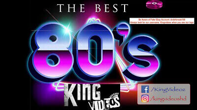 80's Music Video Collection 2 DVDs Ft Queen Europe Bon Jovi Michael Jackson U2