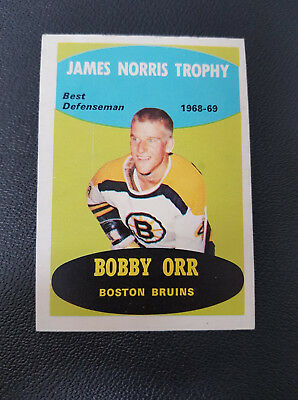 1969-70 OPC O PEE CHEE # 209 Bobby Orr / James Norris Trophy / Boston Bruins