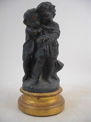 Putti Cherub Statue Bust Gold Gilt Victorian French Paris Italy Grand Tour Style