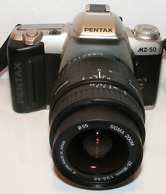 PENTAX MZ 50 35mm SLR FILM CAMERA with 28-80mm ZOOM LENS
