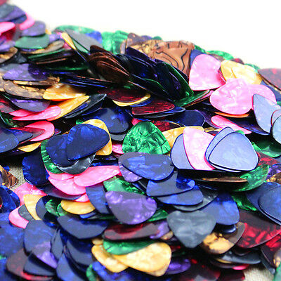 100X  Acoustic Bulk Celluloid Electric Colored Smooth Guitar Pick Picks Plectrum