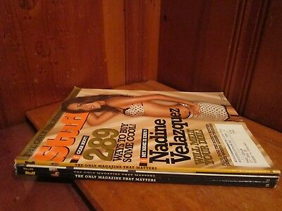 Lot of 3 Issues Oct-Nov 2005/2006 Jan Stuff Mens Magazines EUC