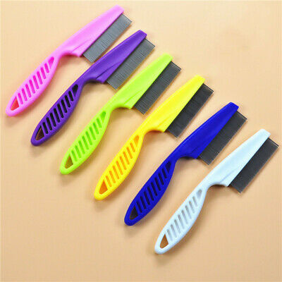 Pet Dog Cat Stainless Steel Grooming Comb Hair Brush Shedding Flea Lice Trimmer