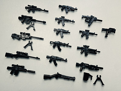 16x custom modern weapons guns pack compatible with Lego minifigures (UK stock)