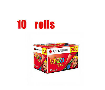 10 Rolls Agfa Vista Plus 200 35mm 135-36EXP  Film Fresh 09/2019 The Last Batch