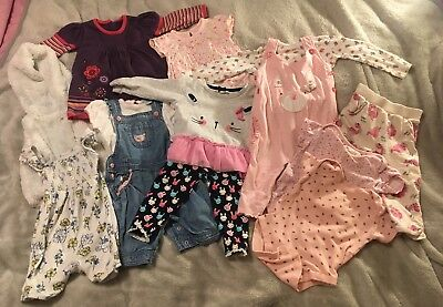 Girls Clothes Bundle 9-12months Pink Baby Girl Clothing Mothercare Faux Fur M&Co