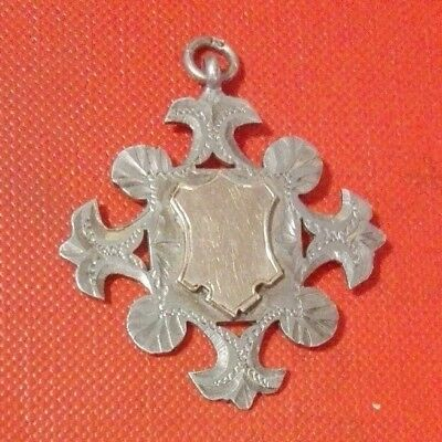 Antique RARE CHESTER Solid Sterling Silver Pocket Watch Albert Chain Fob Medal