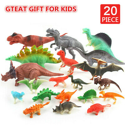 20PCS Dinosaur Toy Animals Playset Action Figures Set T Rex Triceratops for Kids