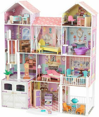 Puppenstuben & -häuser Kidkraft MAGNOLIA MANSION DOLLHOUSE for 12 Dolls Kids/Childrens Toy BNIP