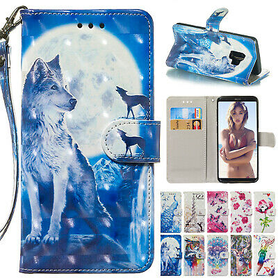 For Samsung A8 2018 Case A6 Plus Magnetic Leather Wallet Card Stand Flip Cover