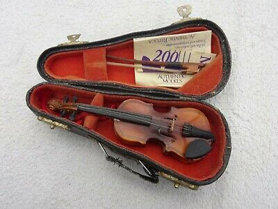 Miniature Mozart Violin Replica with Bow and Case by Authentic Models Holland