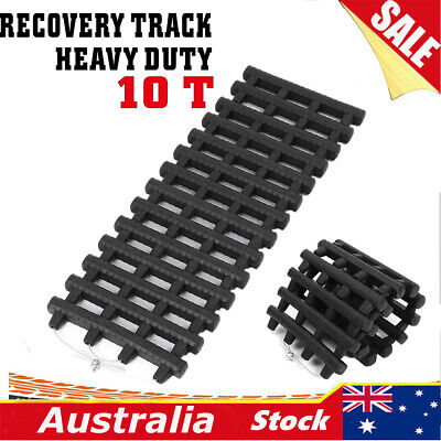 Black 10T Recovery Tracks Off Road 4x4 4WD Car Snow Mud Sand Track 10 Ton Pair