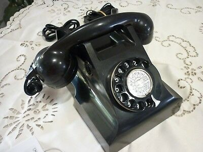Vintage Retro 400 Series Black Bakelite Phone Vg Condition Fully Operational