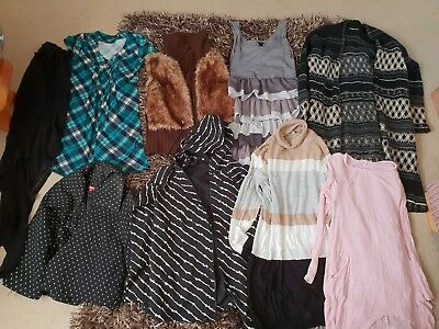 BUNDLE / JOB LOT OF LADIES CLOTHES WOMENS UK SIZE 12 -14. Knitwear, dress, tops.
