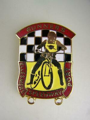 Pin back badge Ellesmere Port Speedway 'Gunners'              solo motorcyle 473