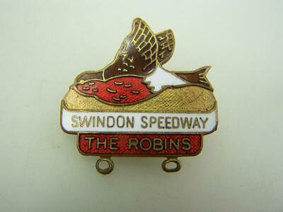Pin back badge Swindon Speedway 'The Robins'                  solo motorcyle 472