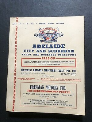 Vintage Adelaide Directory 1958 Advertising Mobil Ford Holden