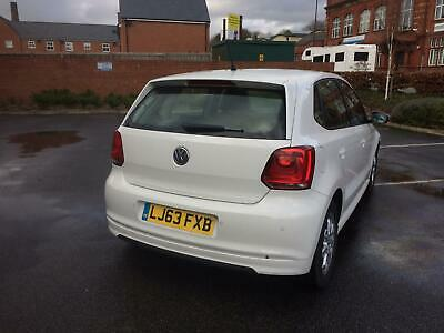 Vw Polo 2013 1.2 Diesel 5 Door White Cheap Car Golf Ibiza Leon Yaris Jazz Up