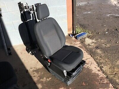 Ford transit custom front single passenger seat black with base bk21 63227 bc