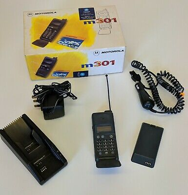 Vintage Mobile Phone Motorola M301 Mobile Phone, Charger & Box MERCURY One2One