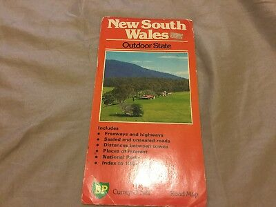 Vintage BP New South Wales Road Map