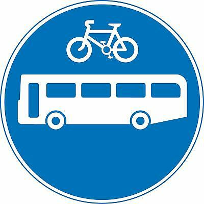 Buses and cycles only Road safety sign