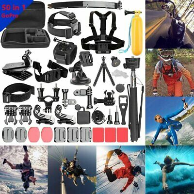 50-In-1 Action Camera Accessories Kit for GoPro Hero Video Cam Mount Tripod LJL