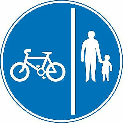 Segregated pedal cycle and pedestrian route Road safety sign