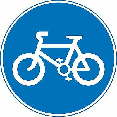 Route to be used by pedal cycles only Road safety sign
