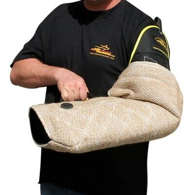 Jute Dog Training Sleeve for Young Dogs, Full Arm and Shoulder Protection