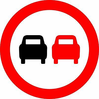 No overtaking Road safety sign