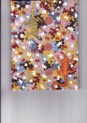 "A5 Aboriginal Blank Book "" Goanna Dreaming"" by Clifford Possum ( BRAND NEW )"