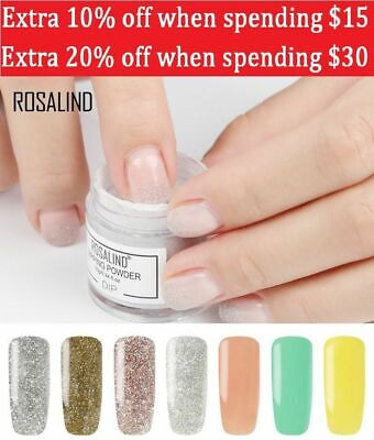 Rosalind Dipping Puder Nail holographische Glitter Nail Art Puder keine...