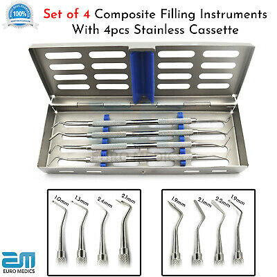 4X Dental Composite Filling Instruments Anterior Placement Tools 4XCassette Tray