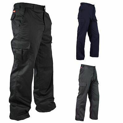 New Lee Cooper Workwear Mens Combat Cargo Pockets Work Trousers Size 30-42 Waist
