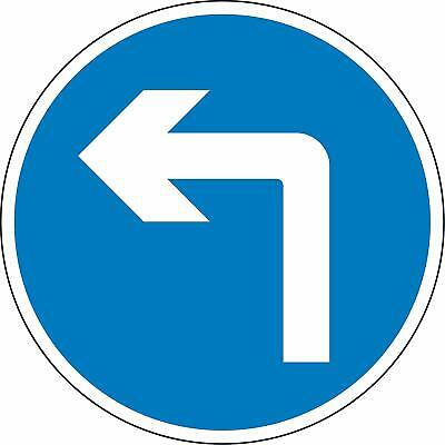 Road traffic Turn left ahead Reflective RA2 Road legal Safety sign