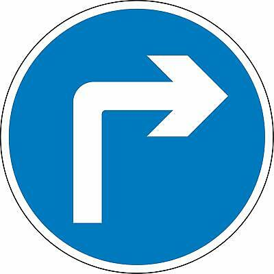 Road traffic Turn right ahead Reflective RA2 Road legal Safety sign