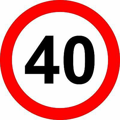 40 Mph road safety sign